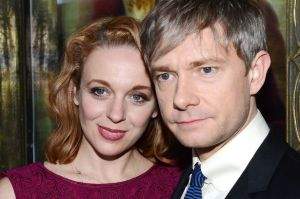 Amanda+Abbington+and+Martin+Freeman